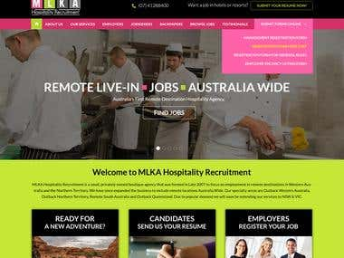 MLKA Hospitality Recruitment Website Design