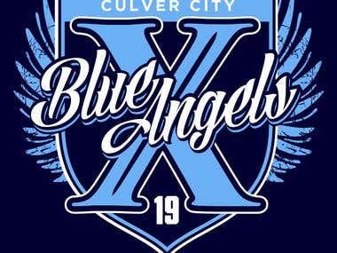 Blue Angels Soccer Team T