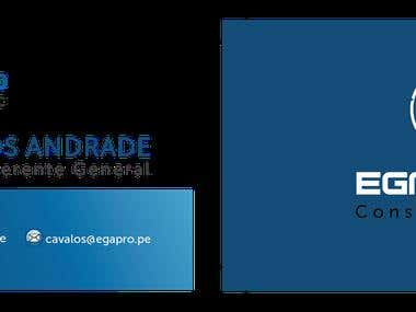 Diseño de brochure y business card para EGA Consulting