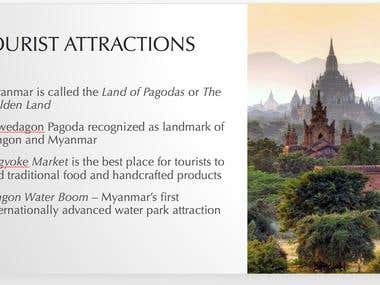 Powerpoint Presentation on Tourism in Myanmar