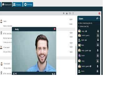 Video multi-Chatting  using webrtc , nodejs , socket.io