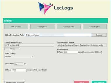 LecLogs Lecture Recording Software