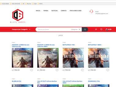 Games Web Site Ecommerce