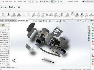 Modeling in the solidworks