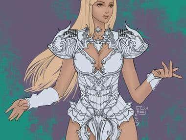 Personal digital illustration in progress