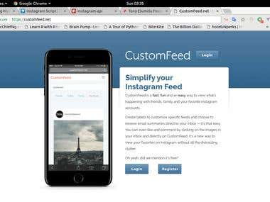 Instagram custom feed and auto-like website