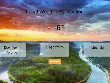 Local Weather Application