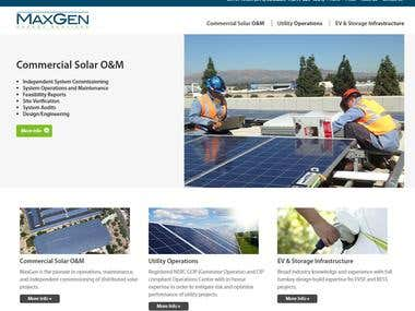 Solar company website design and developed in Wordpress