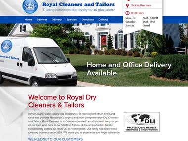 Dry Cleaning & Laundry Service Website (Wordpress)