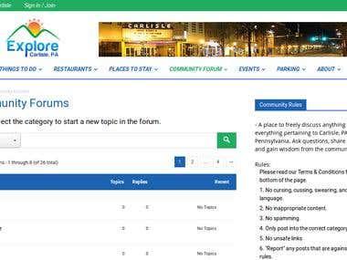 Wordpress Site with bbpress forum customization