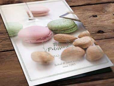 The Patisserie menu design