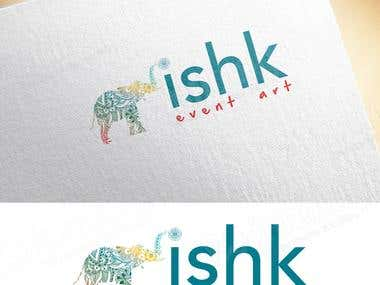 Designed logo for Ishq Eventart