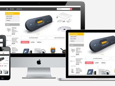 eCommerce site for the electronic devices