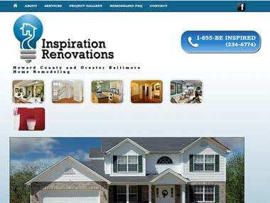 Home remodeling company website custom designed