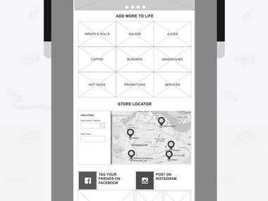 Wireframes in Axure RP