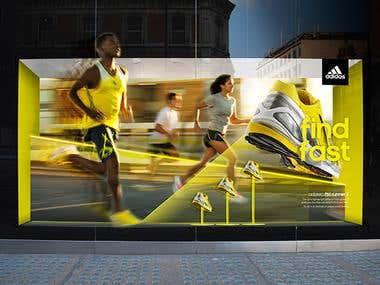 Adidas visual merchandising