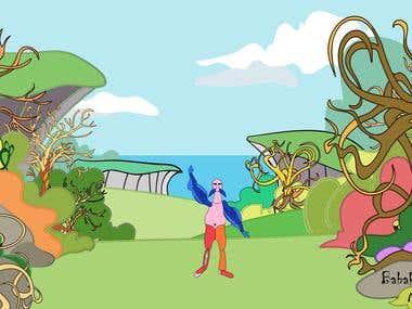 Animation & Illustration Background