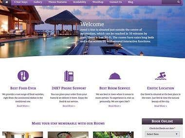 5 Star Hotel Website