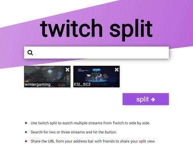 twitch split