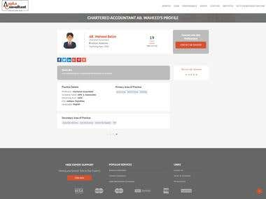 Web Portal for a leading professional services firm