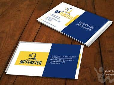 MP Fenster Logo and Business Card Design