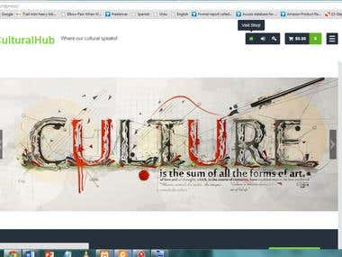 Cultural hub - WordPress Site