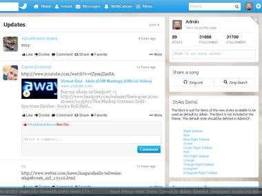 Social Media Project like Twitter
