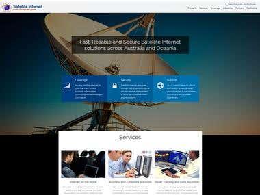 Satellite Internet Solutions website
