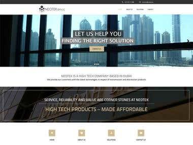 High Tech Company Website