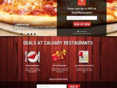 Web design mockup for dinecart