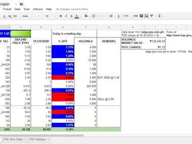 Data Scraping from PSE