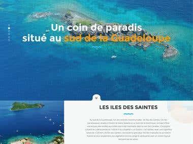 Développement site : http://www.les-saintes.com/