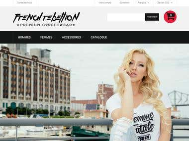 Site Ecommerce boutique de vente de vêtements