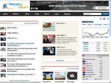 Market analysis web project