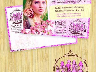 Promotional Postcard Layout & Logo Design