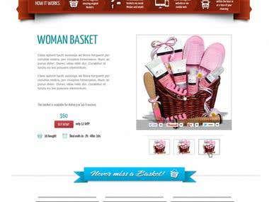 Timely basket web design Mock up
