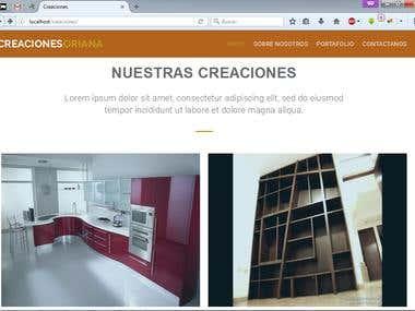 Sitio web - Responsive - Galerias de imagenes - One page