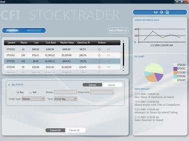User Interface using Qt designer