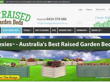 Raised Garden Beds - Website Design and Development