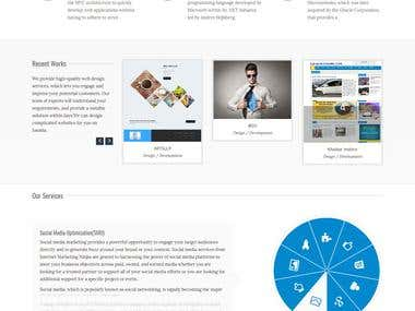 IT Company website using bootstrap and php
