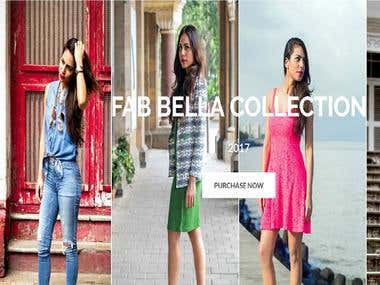 http://fabbella.com/ is a completed ecommerce site