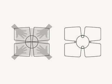 Proceso de diseño para logo.
