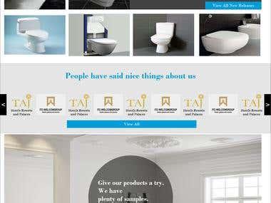 Bathing Product Showcase website Design