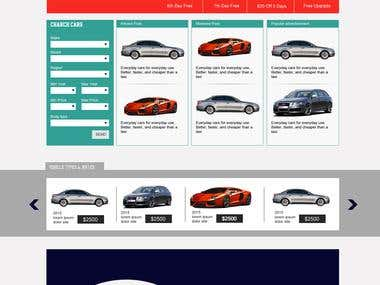 Car rent website develop and marketing