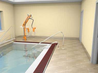 Interior Spa swimming pool
