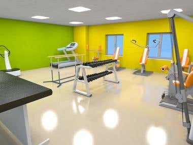 Interior SPA /Gym Rendering