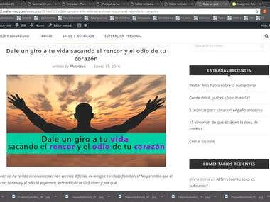 Project: Cambiar imagenes en Blog de WordPress - 15 USD