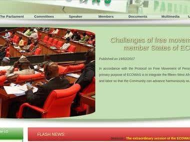 cedeao parliament site
