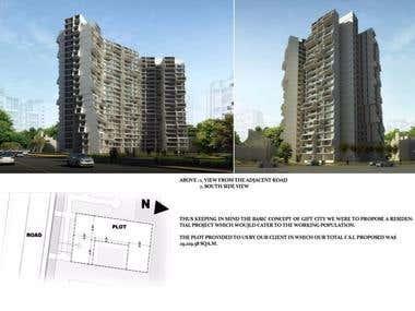 High-rise apartments - Gujarat, India