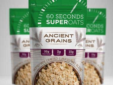 60 Seconds SuperOats Pouch Design
